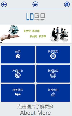 蓝色,科技,公司,双语言,中英