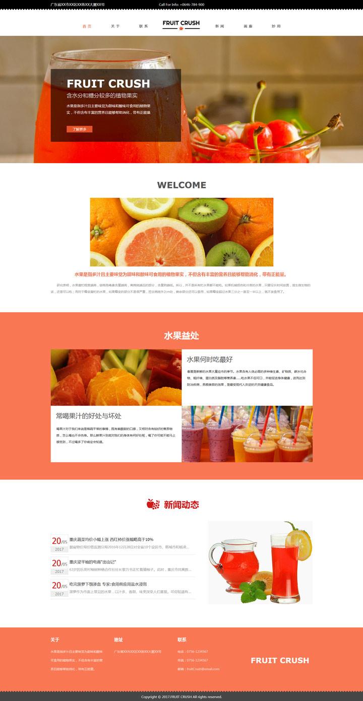FRUIT CRUSH水果展示模板