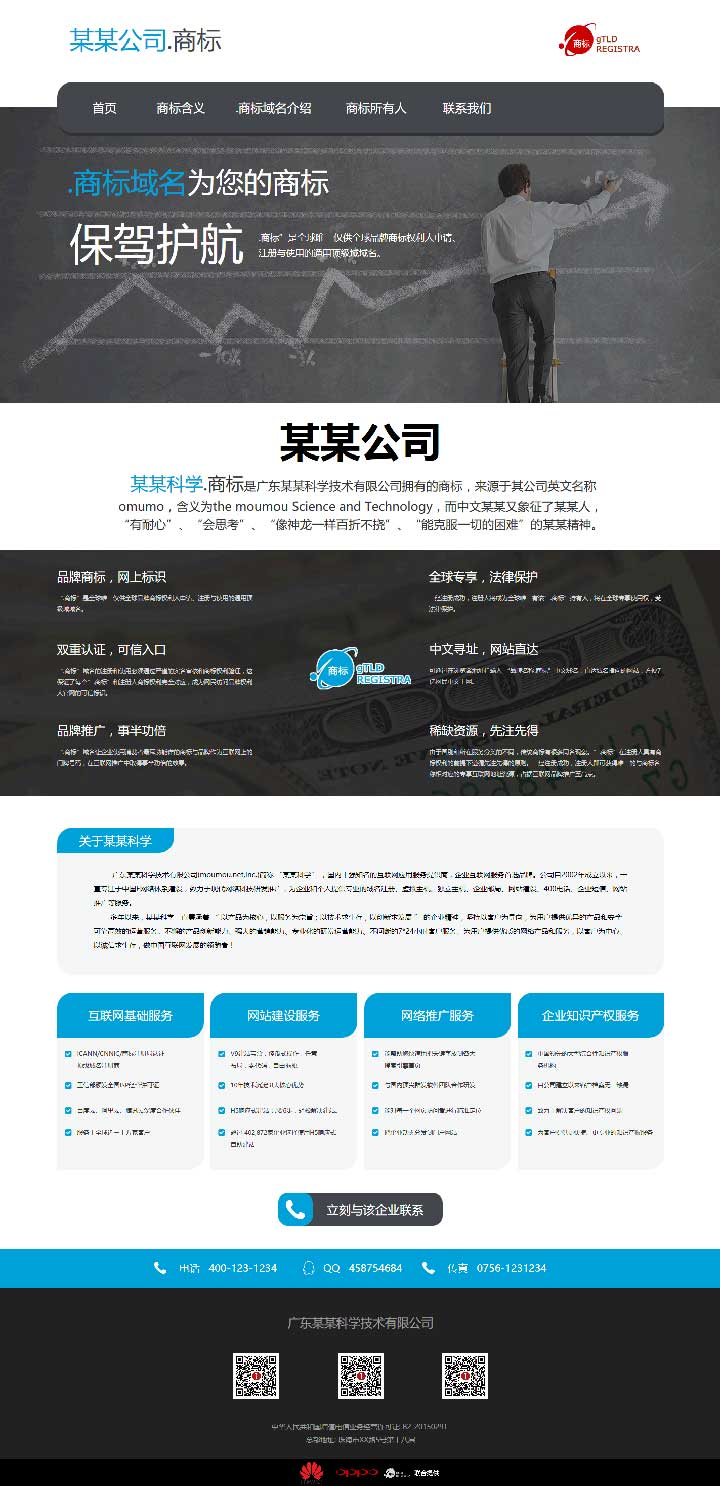 商标域名宣传页